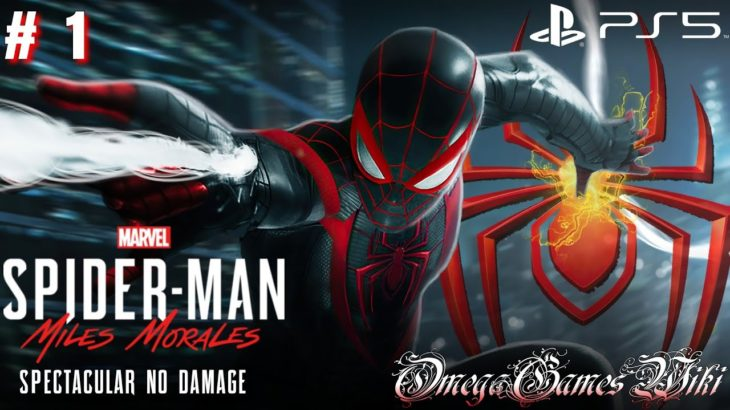 【PS5/4K】#1 スパイダーマン Spider-Man: Miles Morales・BOSS ライノ (SPECTACULAR/NO DAMAGE) #PS5 #スパイダーマン