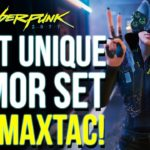 …But There is A Twist   Cyberpunk 2077 The Most UNIQUE Armor In The Game [ MAX TAC ARMOR Set ]