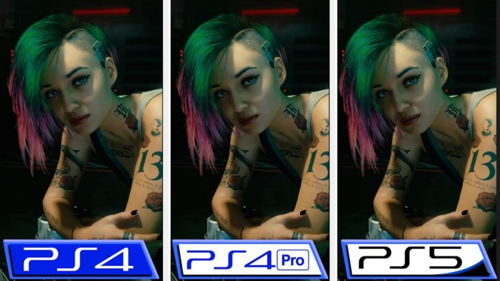 Cyberpunk 2077 | 1.10 Patch Comparison | PS4 – PS4 Pro – PS5