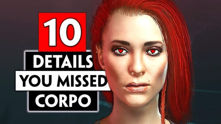 10 Details You Probably Missed in Corpo Lifepath | CYBERPUNK 2077