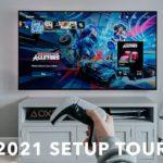 "My Gaming TV Setup Tour: 77"" OLED + PS5/Xbox"