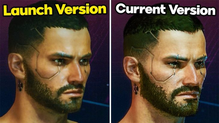 CYBERPUNK 2077 PS4 1.00 vs 1.20 Launch Version vs Current Patch