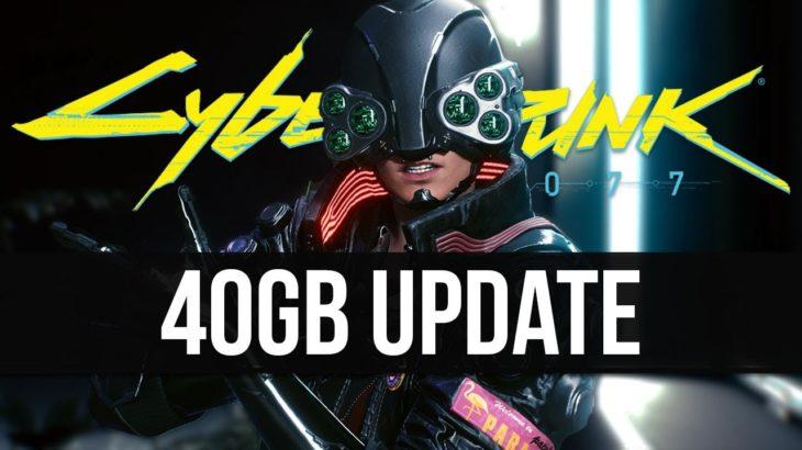 Cyberpunk 2077 Just Got a Massive New 40GB New Update