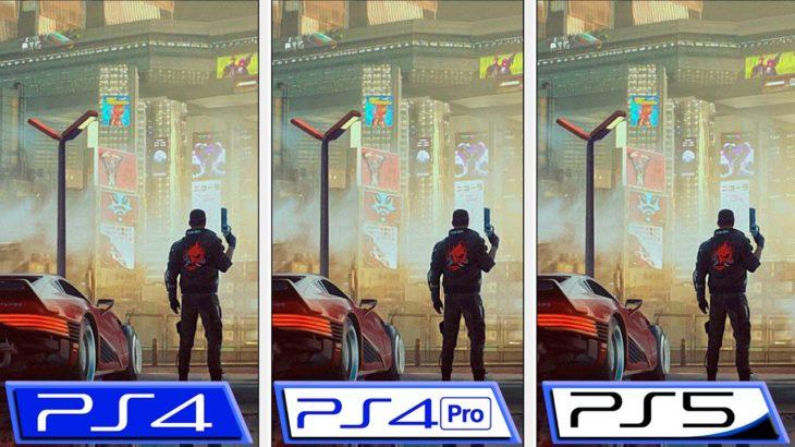 Cyberpunk 2077 | PS4 – PS4 Pro – PS5 | Patch 1.2 Graphics Comparison