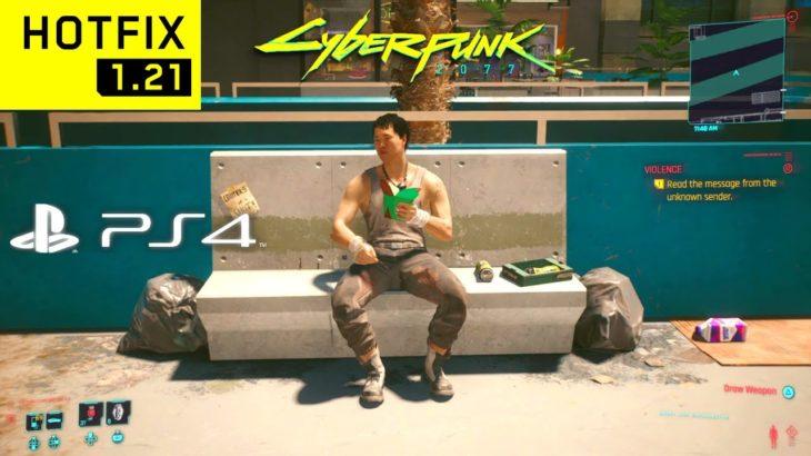 CYBERPUNK 2077 HOTFIX 1.21 PS4 Slim Gameplay Performance & Graphics! (Walking Around Night City)