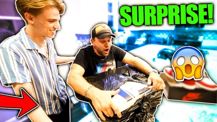 I SURPRISED MY DAD WITH A PS5 AND AIR JORDANS FOR HIS BIRTHDAY!! (REACTION)