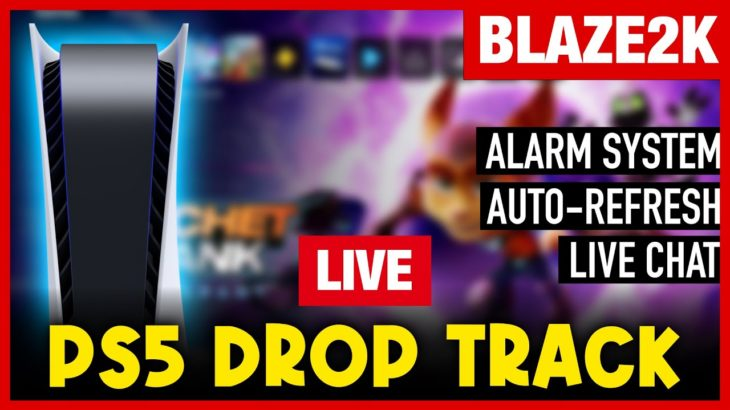 PS5 Restock and Drop Tracking LIVE with Blaze2k