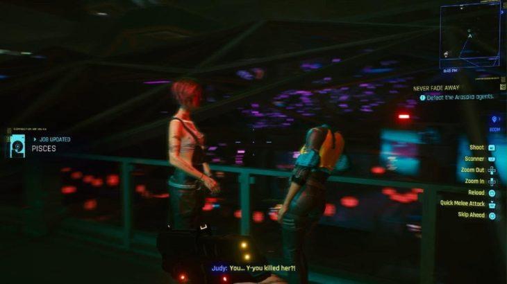 Cyberpunk 2077 Judy's reaction when you kill Maiko as Corpo V
