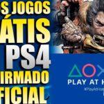 NOVOS JOGOS GRÁTIS NO PS4 e PS5 !!! CONFIRMADO PLAY AT HOME POR MAIS MESES !!! É OFICIAL !!!