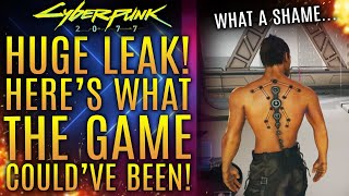 Cyberpunk 2077's New Leak Reveals What The Game Could've Been!  What A Shame!  New Updates!
