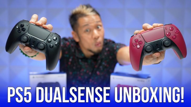 First Look: Unboxing PS5 Cosmic Red & Midnight Black DualSense Controllers!