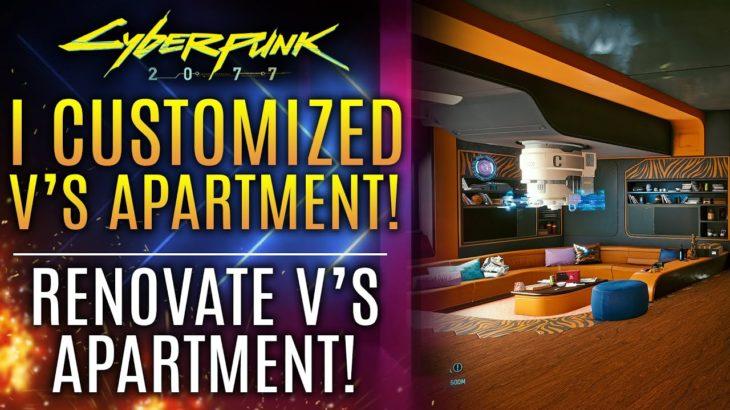 Cyberpunk 2077 – I Customized V's Apartment With The Impressive Apartment Renovation Mod!